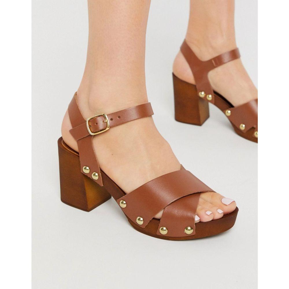 カーベラ Carvela レディース サンダル・ミュール シューズ・靴【Bolder Leather Platform Sandals In Tan】Tan leather