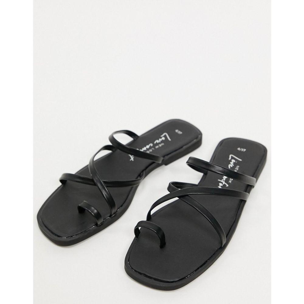 ニュールック New Look レディース サンダル・ミュール フラット シューズ・靴【Strappy Toe Loop Flat Sandals In Black】Black