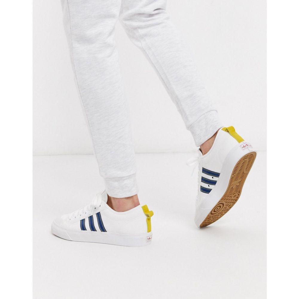 アディダス adidas Originals メンズ スニーカー シューズ・靴【Adidas Originals Nizza Low Trainers In White】Wh - white