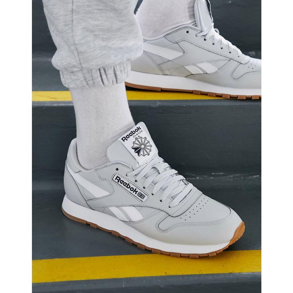 リーボック Reebok メンズ スニーカー シューズ・靴【Classic Leather Trainers In Grey】Gy - grey