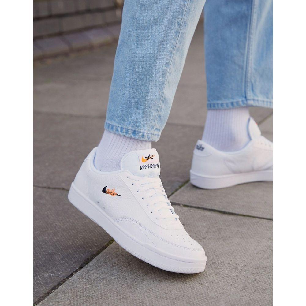 ナイキ Nike メンズ スニーカー シューズ・靴【Court Vintage Premium Leather Trainers In White】White