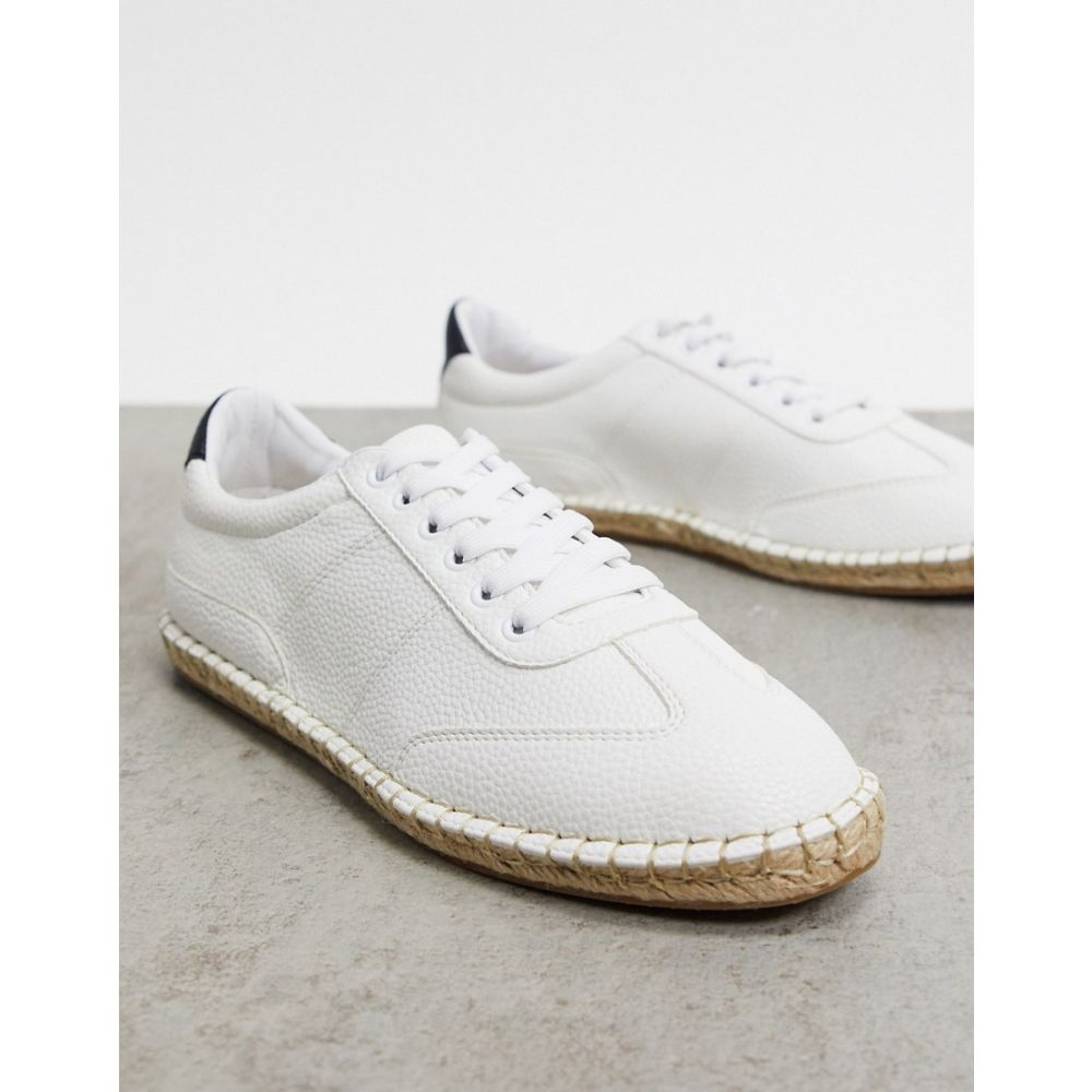 エイソス ASOS DESIGN メンズ エスパドリーユ シューズ・靴【Asos Design Espadrille Trainers In White】White
