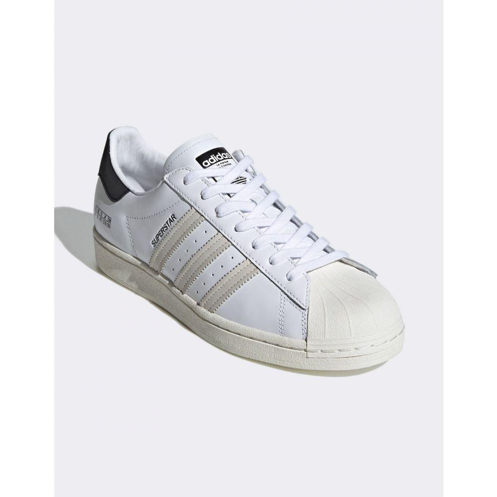 アディダス adidas Originals メンズ スニーカー シューズ・靴 Sigseries superstar trainers with subtle branding in white WhiteMSUzVp