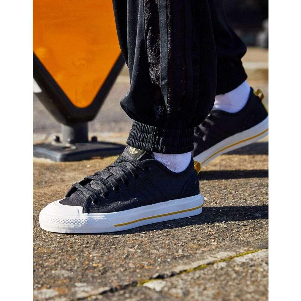 アディダス adidas Originals レディース スニーカー シューズ・靴【Nizza trainers in black suede】White