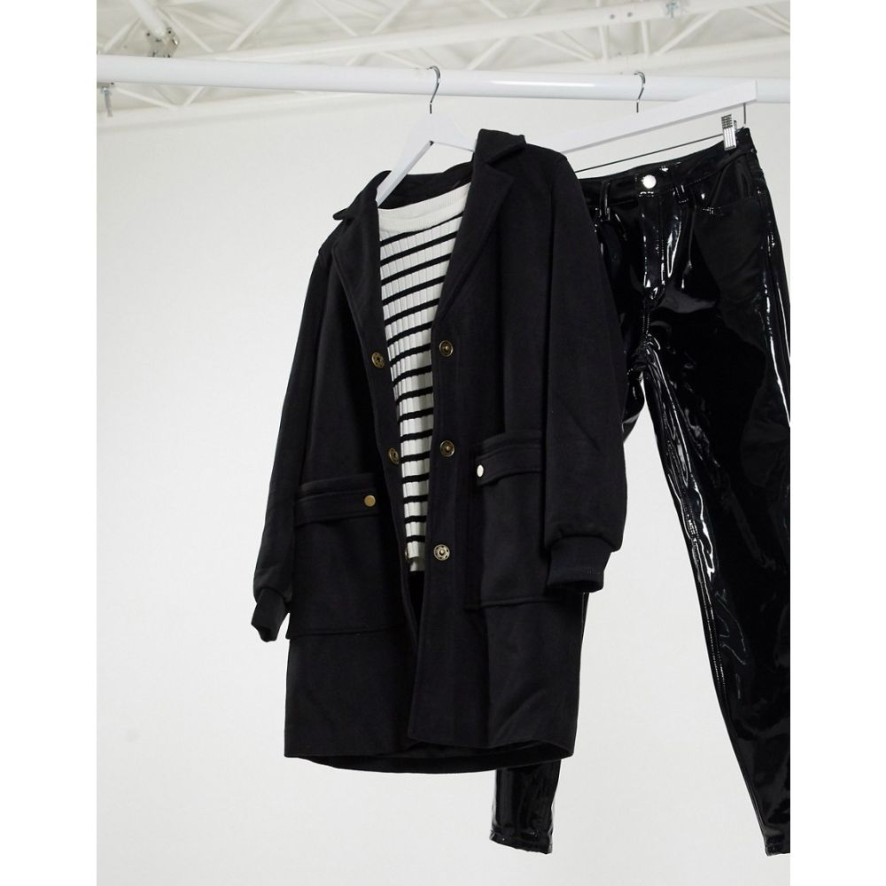 ヴェロモーダ Vero Moda レディース コート アウター【pocket detail coat in black】Black