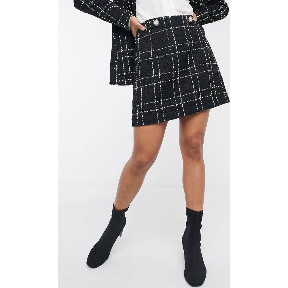 ミス セルフリッジ Miss Selfridge レディース ミニスカート スカート【mini skirt in black boucle check】Black