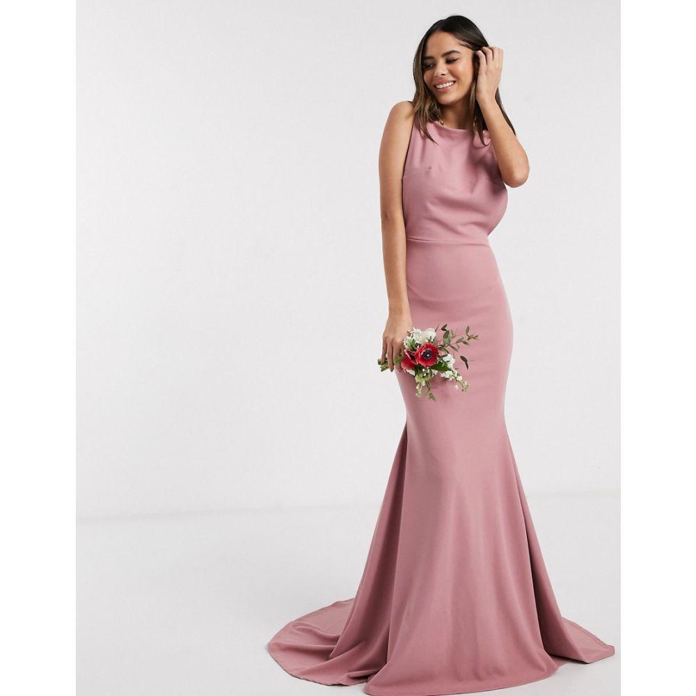 ミスガイデッド Missguided レディース ワンピース ワンピース・ドレス【Bridesmaid low back dress in blush】Pink