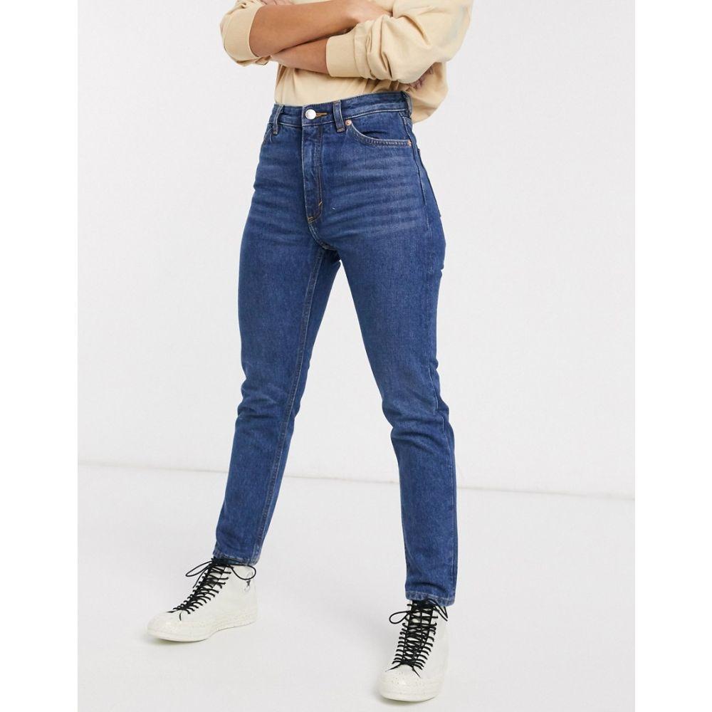 モンキ Monki レディース ジーンズ・デニム ボトムス・パンツ【Kimomo high waist mom jeans with organic cotton in dusty blue】Dusty blue