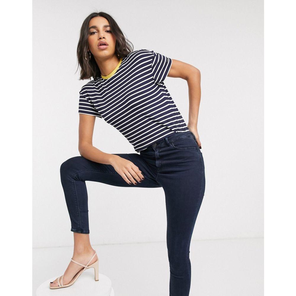 テッドベーカー Ted Baker レディース Tシャツ トップス【striped branded t-shirt】Blue