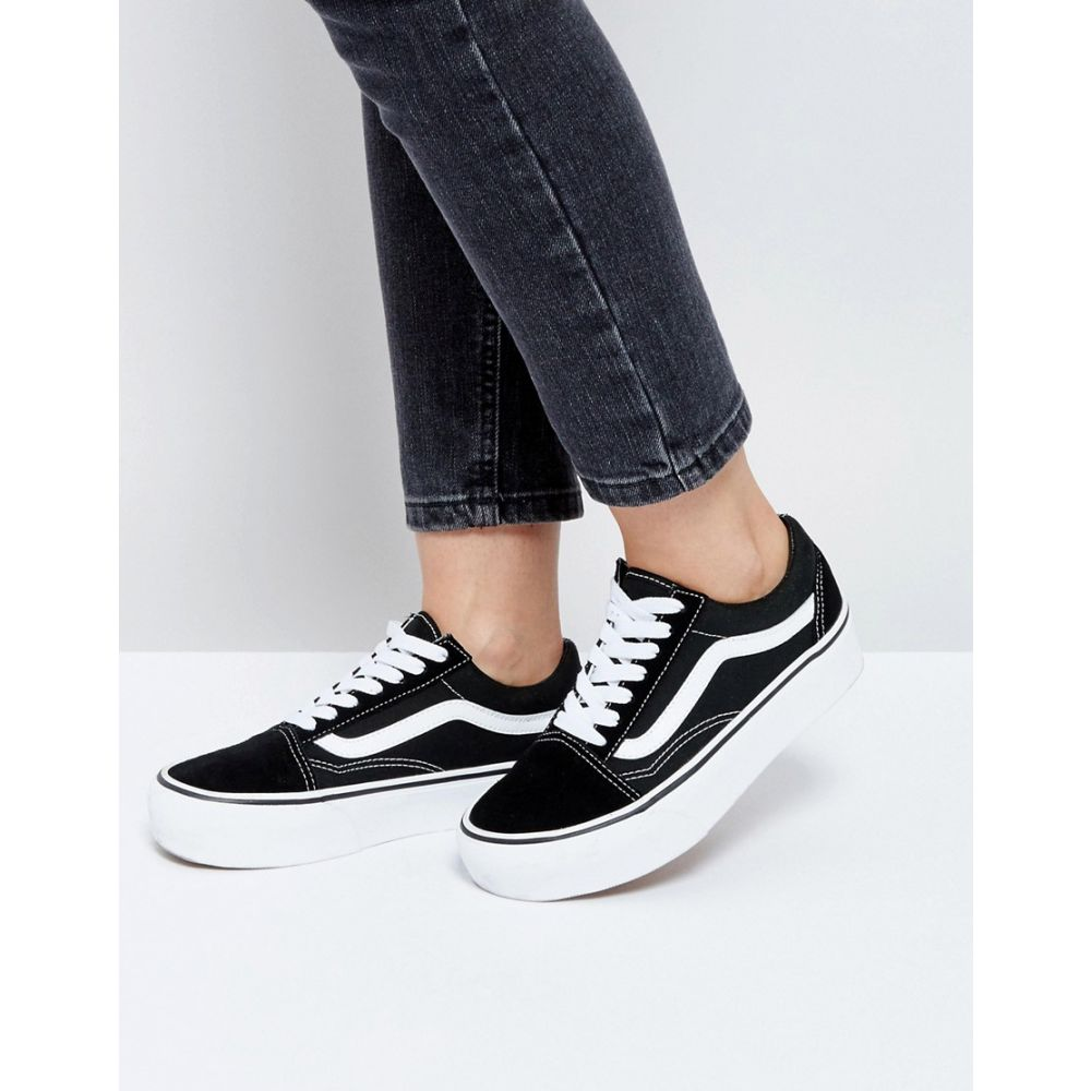 ヴァンズ Vans レディース スニーカー シューズ・靴【Old Skool platform trainers in black and white】Black