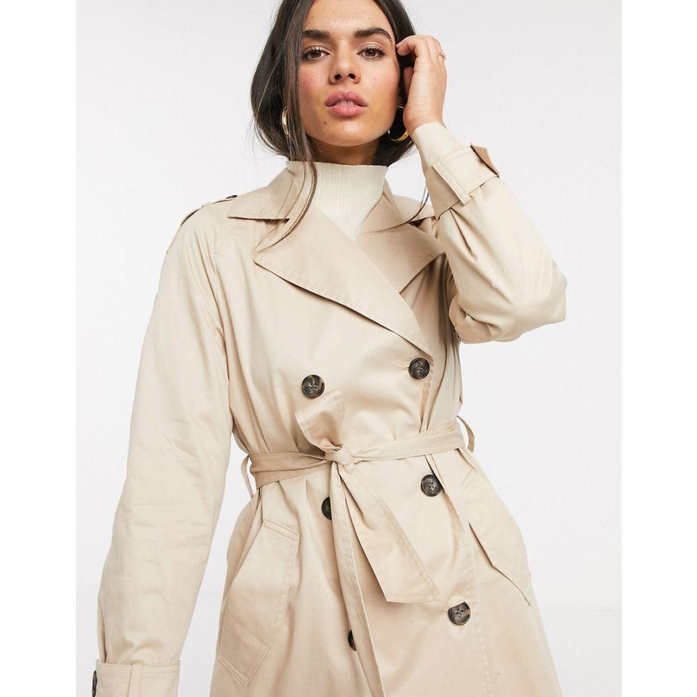 ヴェロモーダ Vero Moda レディース トレンチコート アウター classic trench coat in beige BeigeqVSzMpU