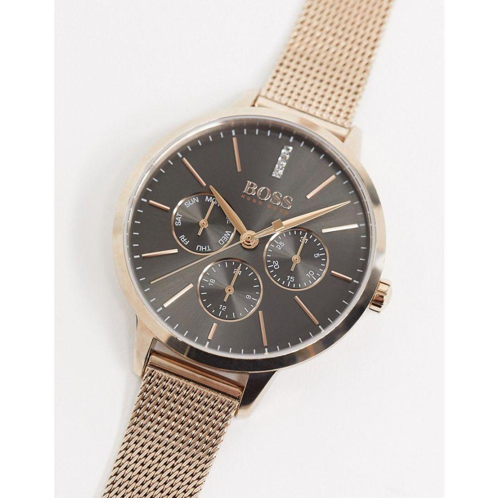 ヒューゴ ボス BOSS レディース 腕時計 【Symphony mesh watch in gold 1502424】Gold