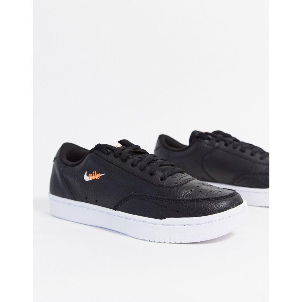 ナイキ Nike レディース スニーカー シューズ・靴【Court Vintage trainers in black】Black