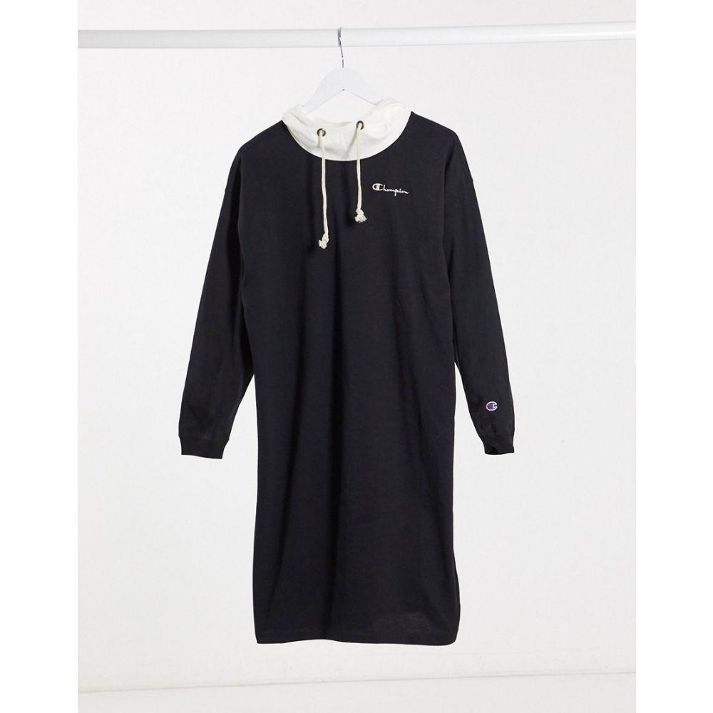 チャンピオン Champion レディース ワンピース パーカーワンピース ワンピース・ドレス【logo hoodie dress】Black
