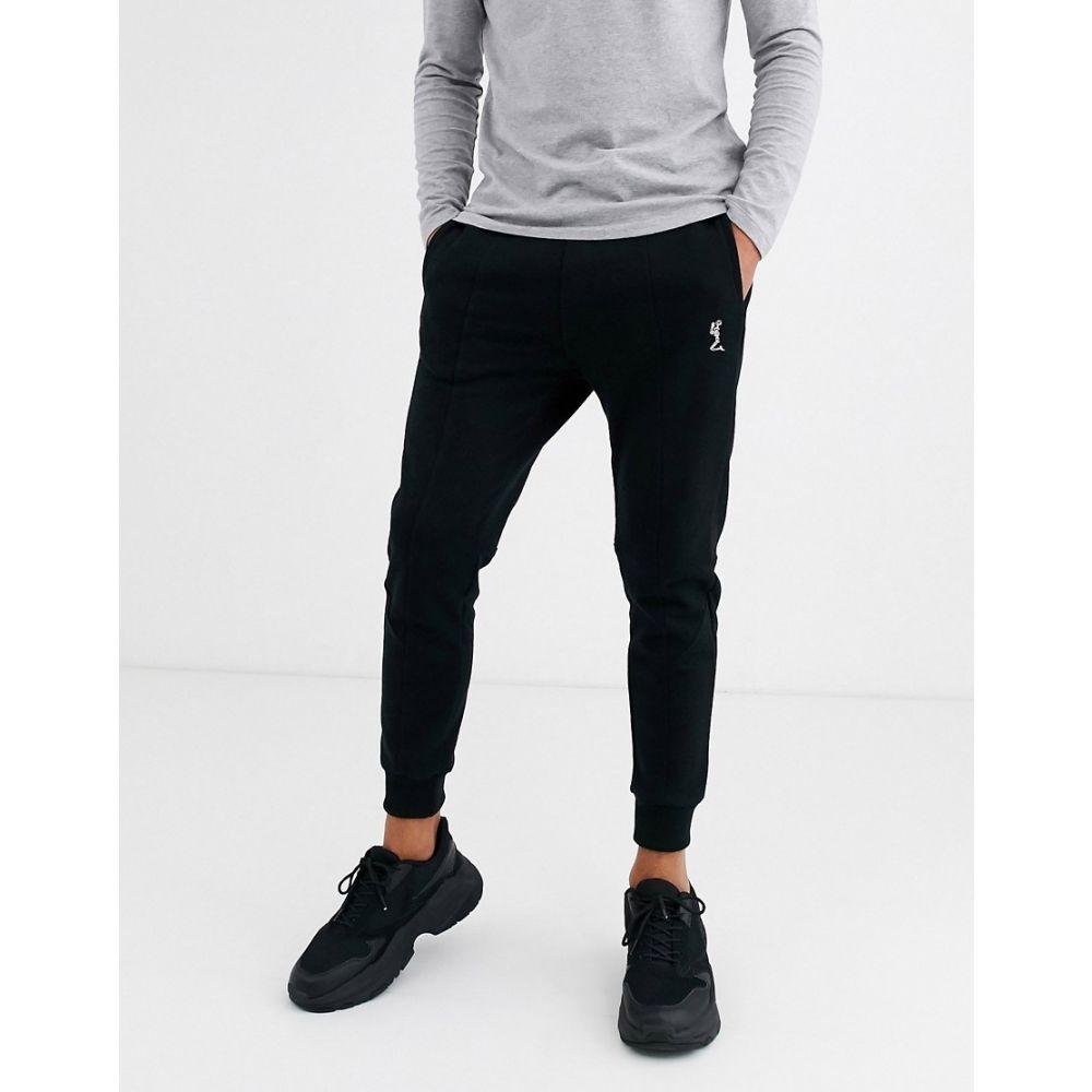 レリジョン Religion メンズ ジョガーパンツ ボトムス・パンツ【skinny fit logo joggers in black】Black