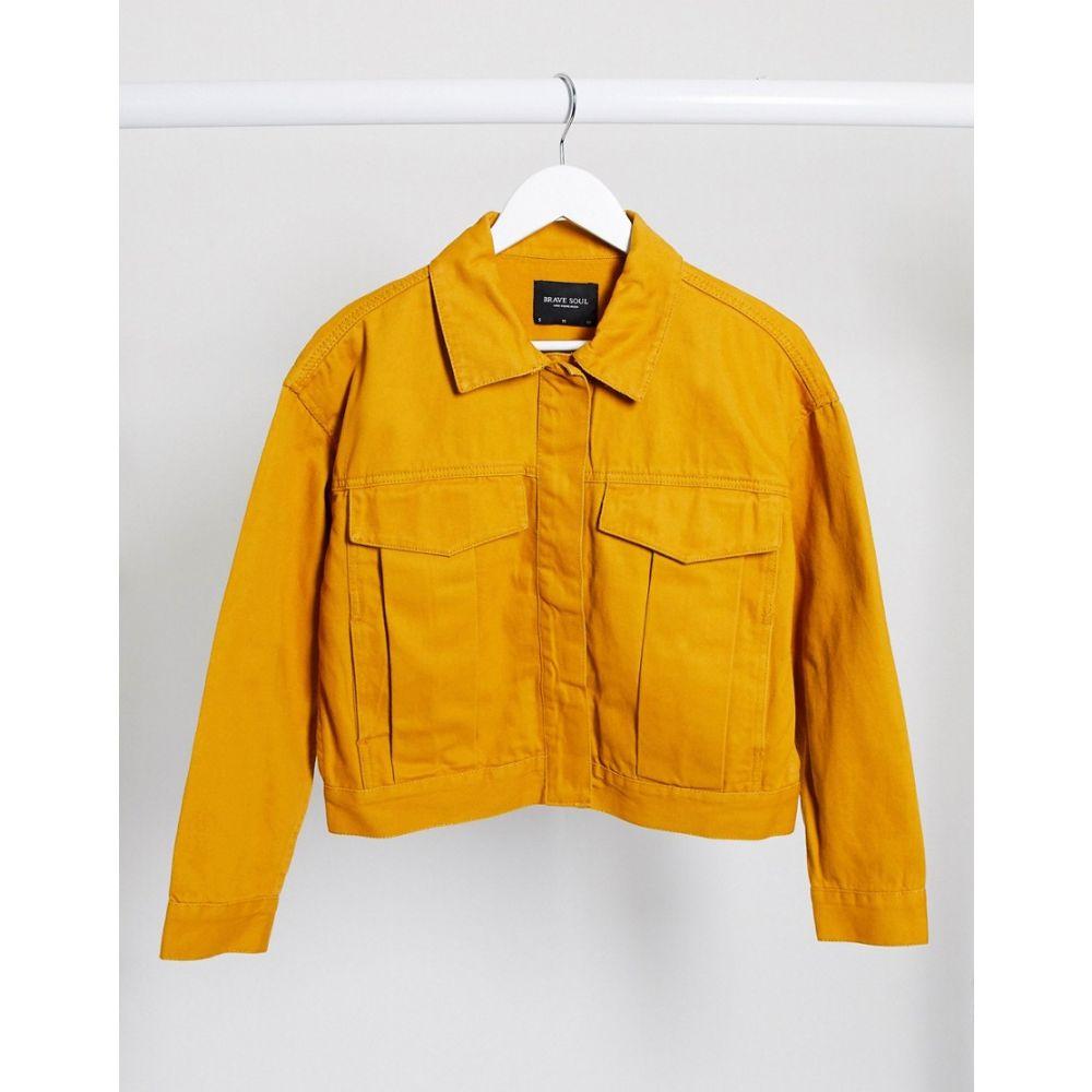 ブレイブソウル Brave Soul レディース ジャケット アウター【frederique twill jacket with pocket detail in mustard】Mustard