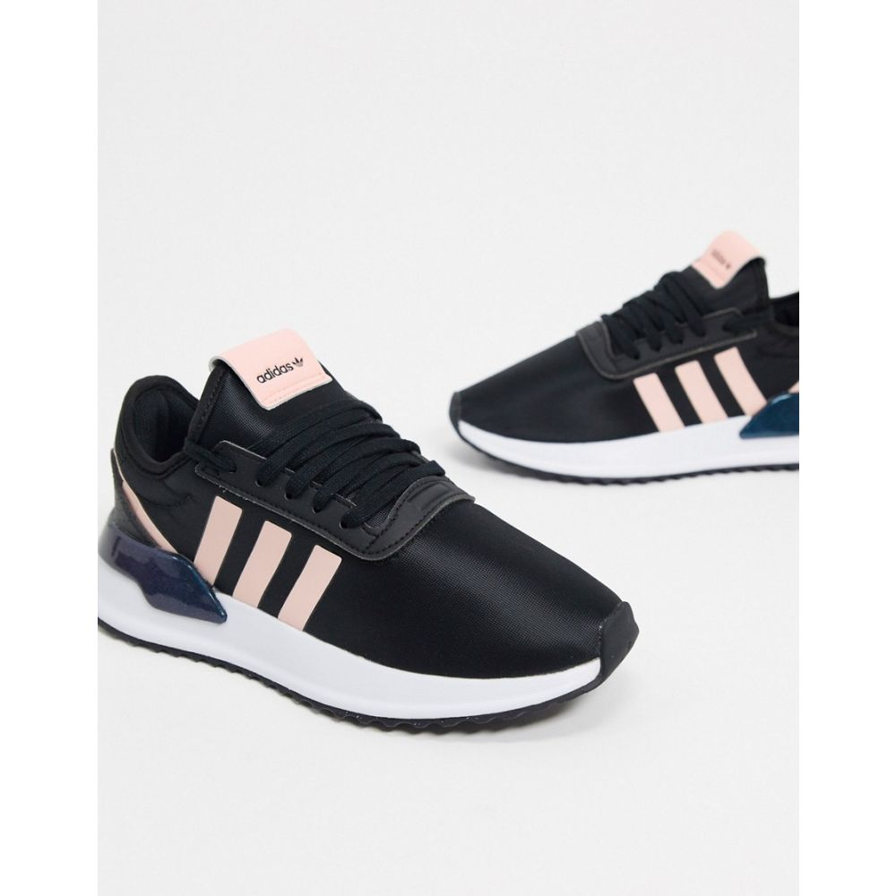 アディダス adidas Originals レディース スニーカー シューズ・靴【U Path Run trainer in black and pink】White