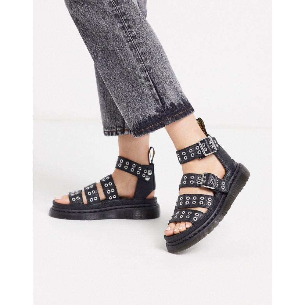ドクターマーチン Dr Martens レディース サンダル・ミュール シューズ・靴【Clarissa sandals with eyelet hardware detail in black】Black