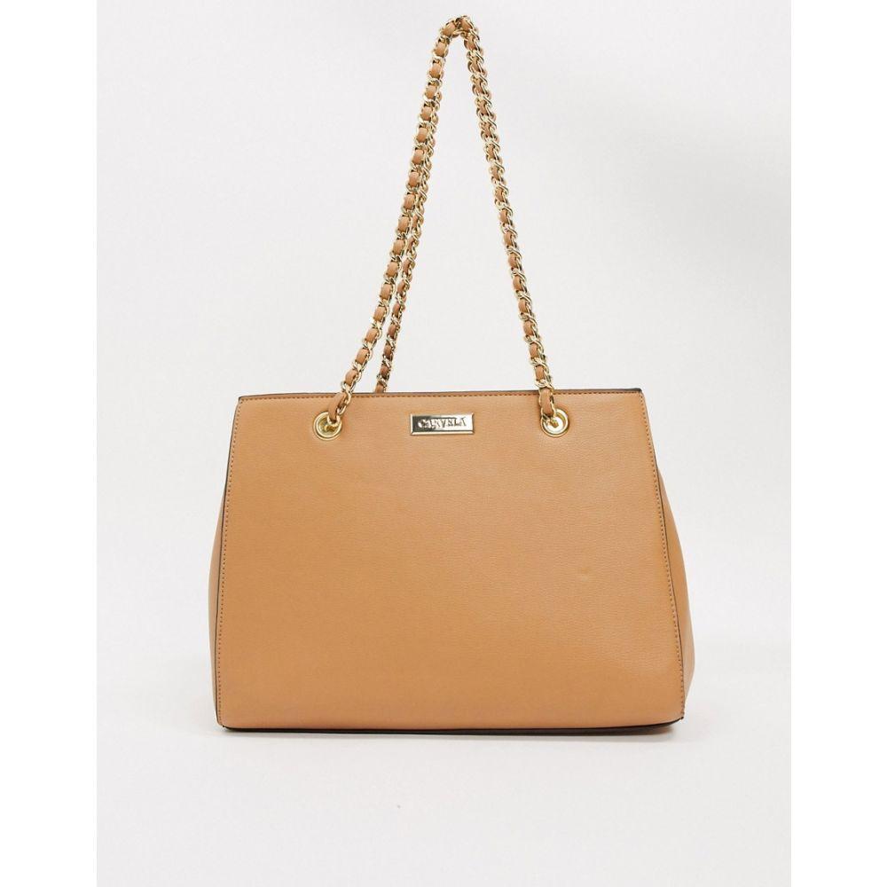 カーベラ Carvela レディース トートバッグ バッグ【tote bag with chain handle】Camel