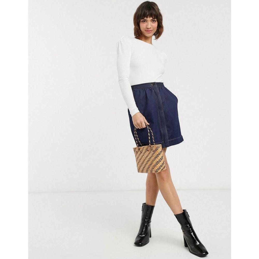 フレンチコネクション French Connection レディース スカート 【jule contrast stitch pocket skirt in blue】Rinse blue