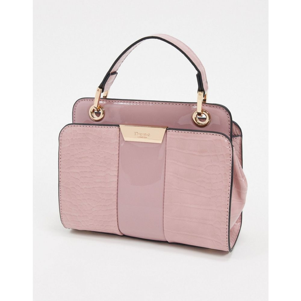 デューン Dune レディース ショルダーバッグ バッグ【diniliza textured highshine structured shoulder bag】Rose pink
