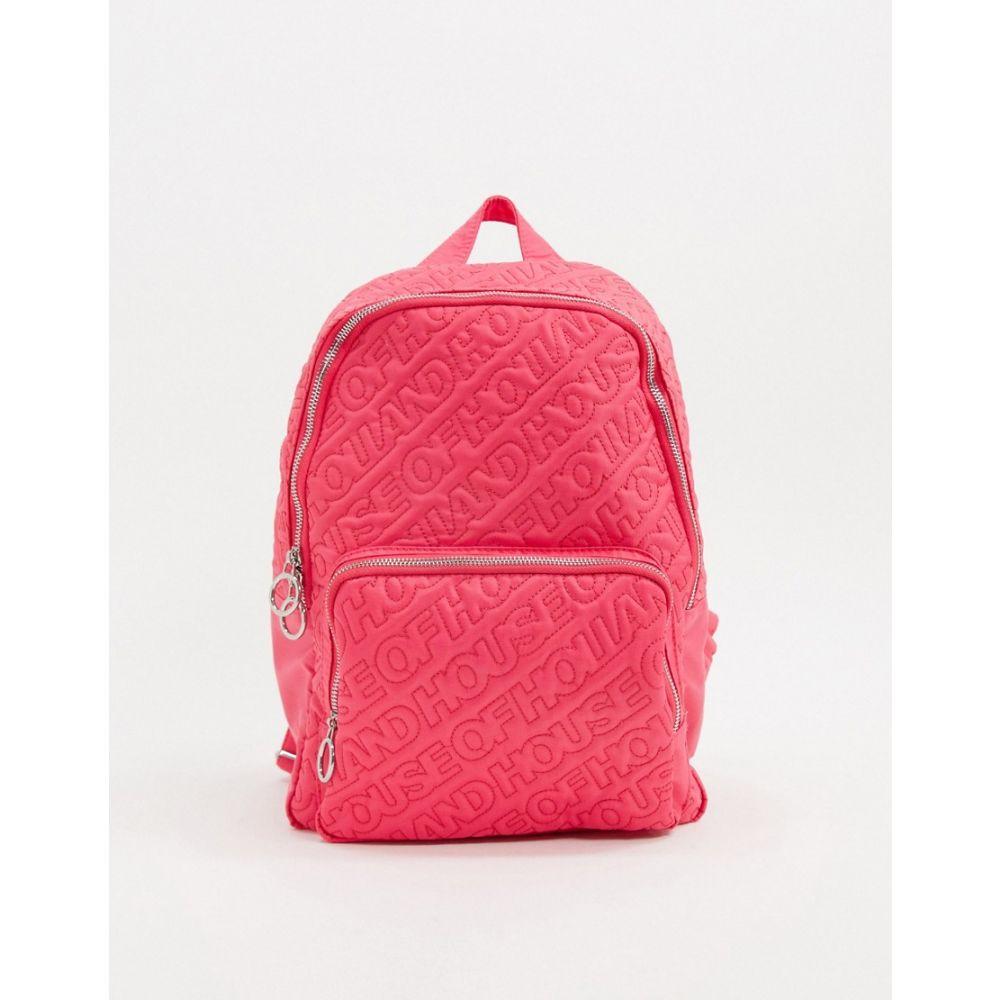 ハウス オブ ホーランド House of Holland レディース バックパック・リュック バッグ【Pink Embossed Backpack】Pink