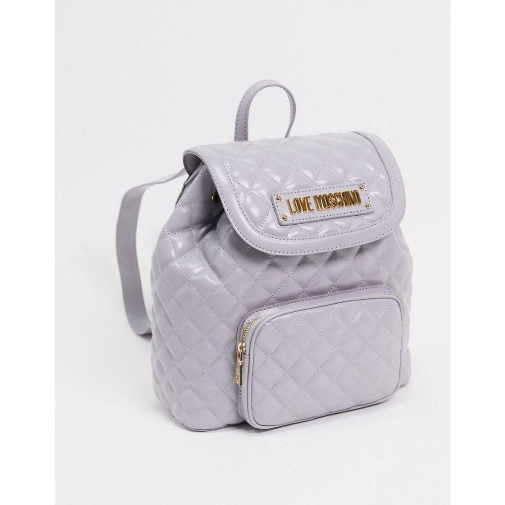 モスキーノ Love Moschino レディース バックパック・リュック バッグ【quilted backpack with front pocket in grey】Grey