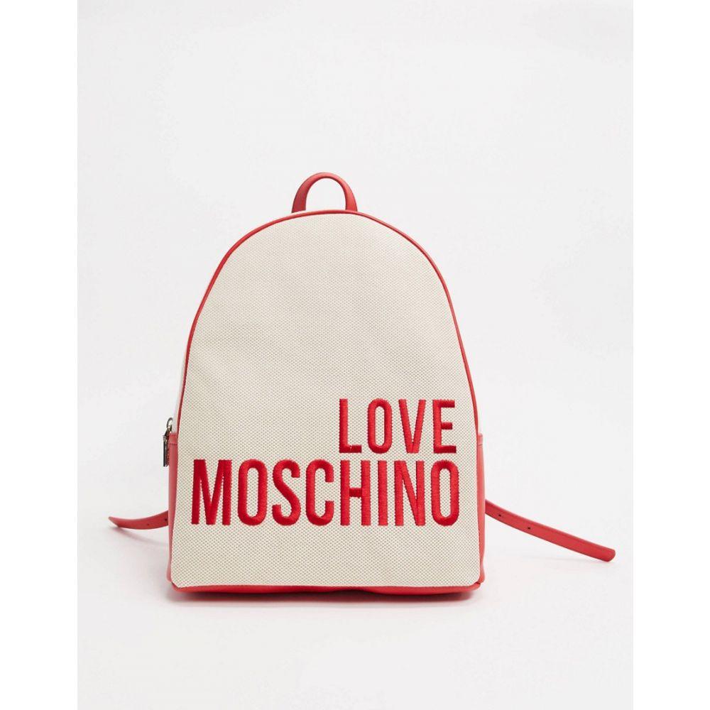 モスキーノ Love Moschino レディース バックパック・リュック バッグ【backpack with large logo in natural】Natural