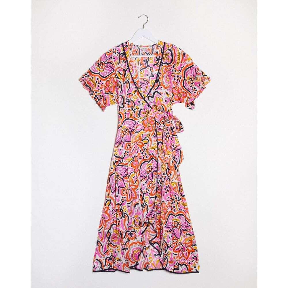 ホイッスルズ Whistles レディース ワンピース ラップドレス ワンピース・ドレス【floral print wrap dress in pink】Pink