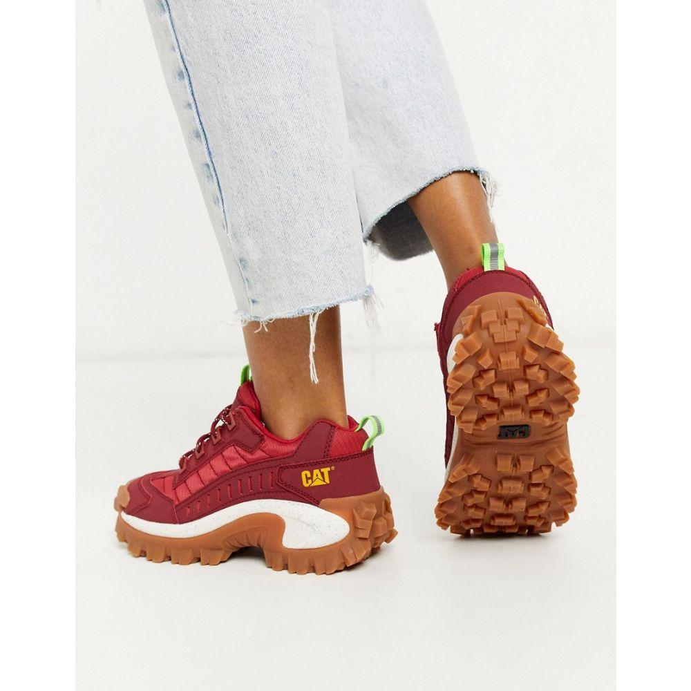 キャットフットウェア Cat Footwear レディース スニーカー チャンキーヒール シューズ・靴【CAT Intruder chunky trainers in red】Biking red