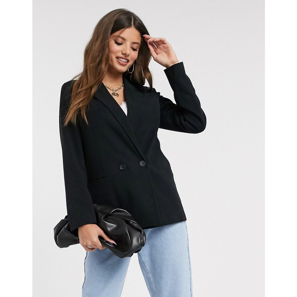 ヴェロモーダ Vero Moda レディース スーツ・ジャケット アウター【double breasted blazer in black】Black