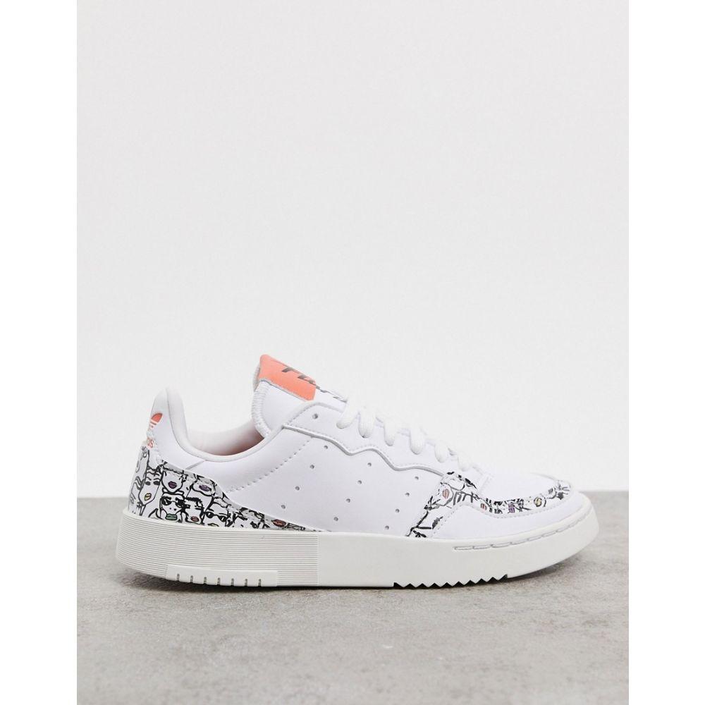 アディダス adidas Originals レディース スニーカー シューズ・靴【x Fiorucci Supercourt trainers in white】White