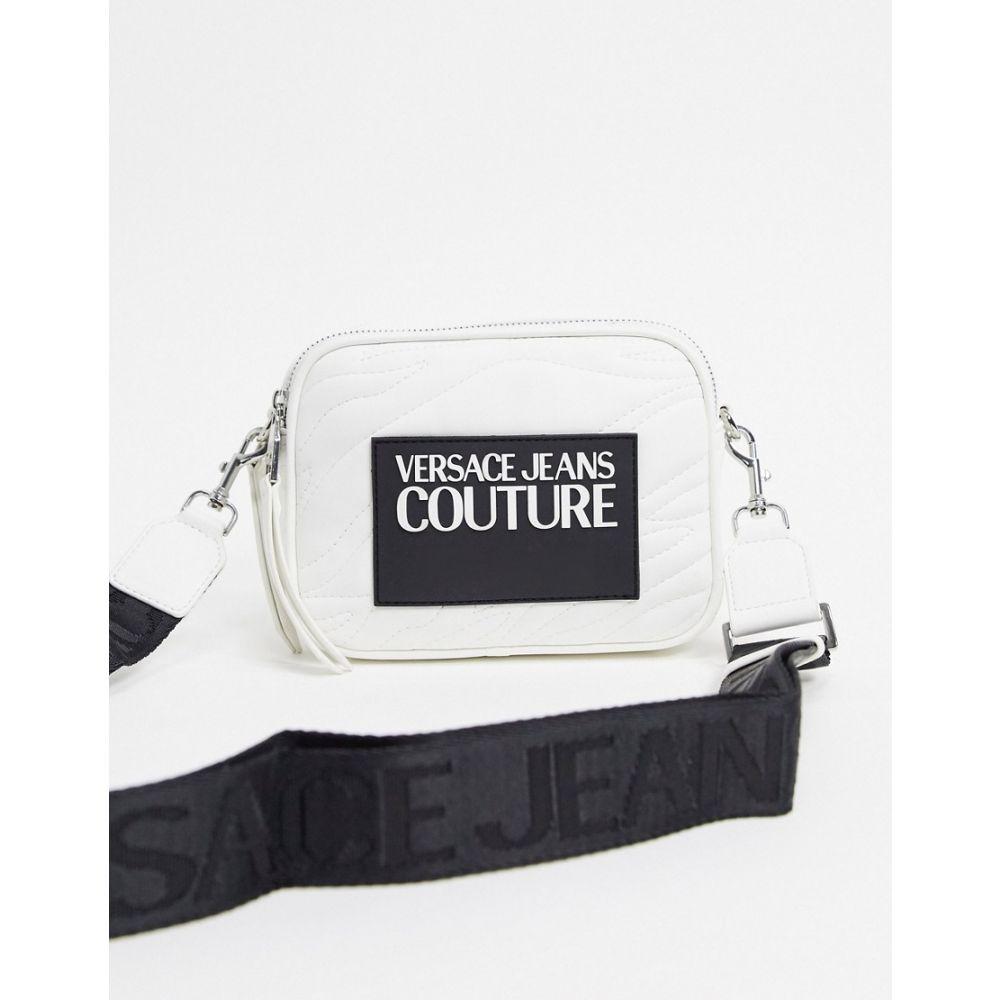 ヴェルサーチ Versace Jeans Couture レディース ショルダーバッグ バッグ【quilted detail crossbody bag in white】White