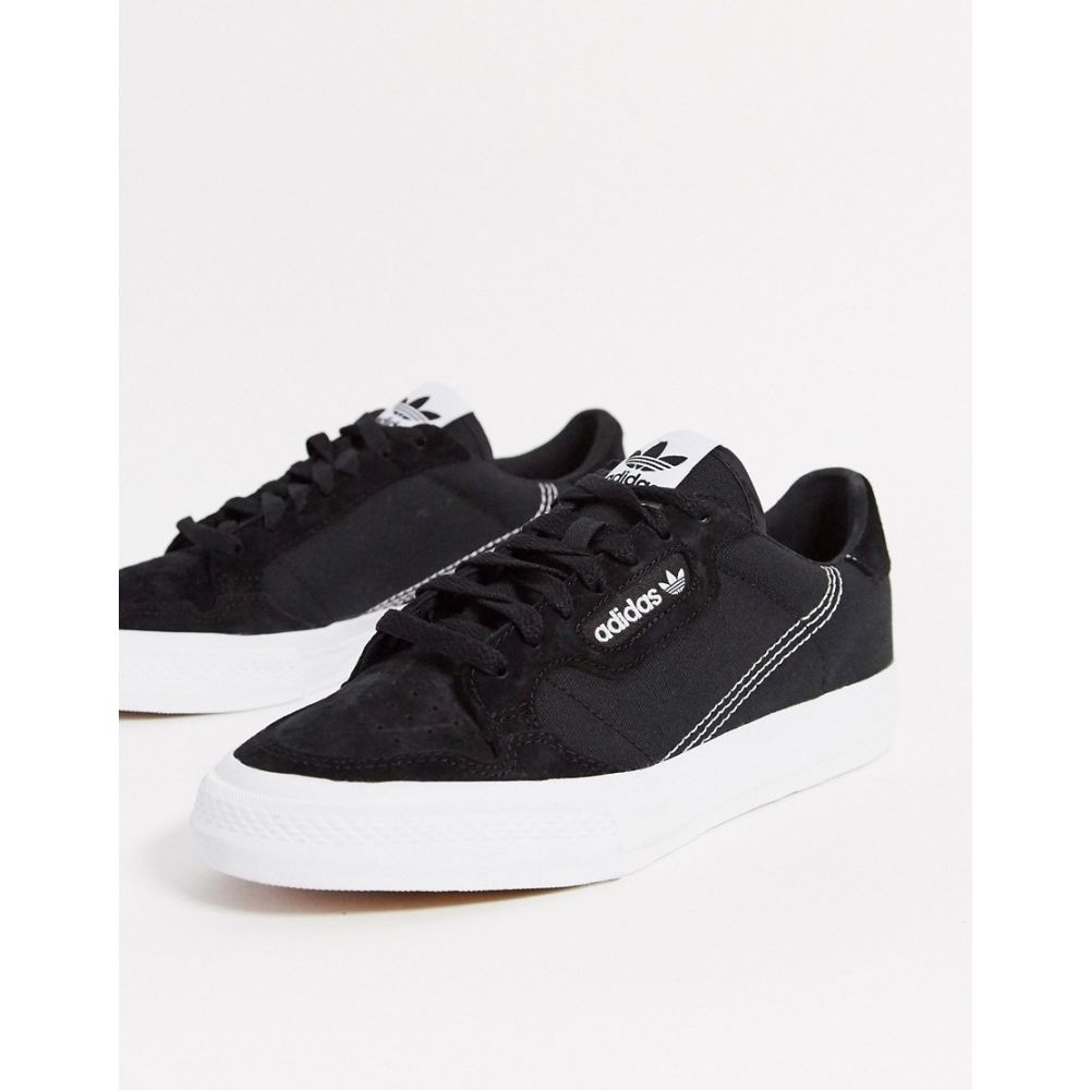 アディダス adidas Originals レディース スニーカー シューズ・靴【Continental Vulc trainer in black】Black