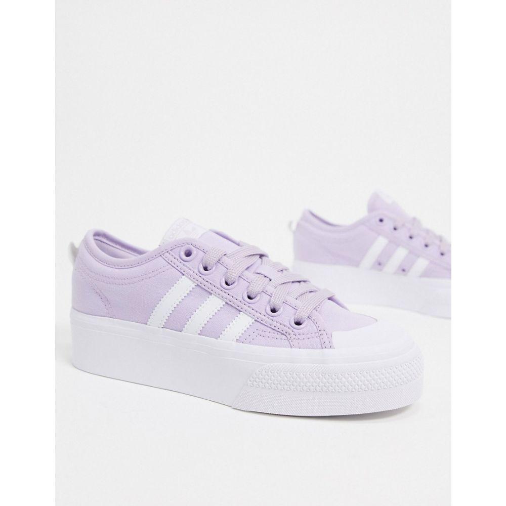 アディダス adidas Originals レディース スニーカー シューズ・靴【Nizza platform trainer in lilac and white】White