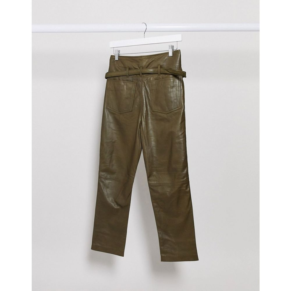 ムーバー Muubaa レディース ボトムス・パンツislay paper bag leather trousers in green Green6vYf7Ibgy