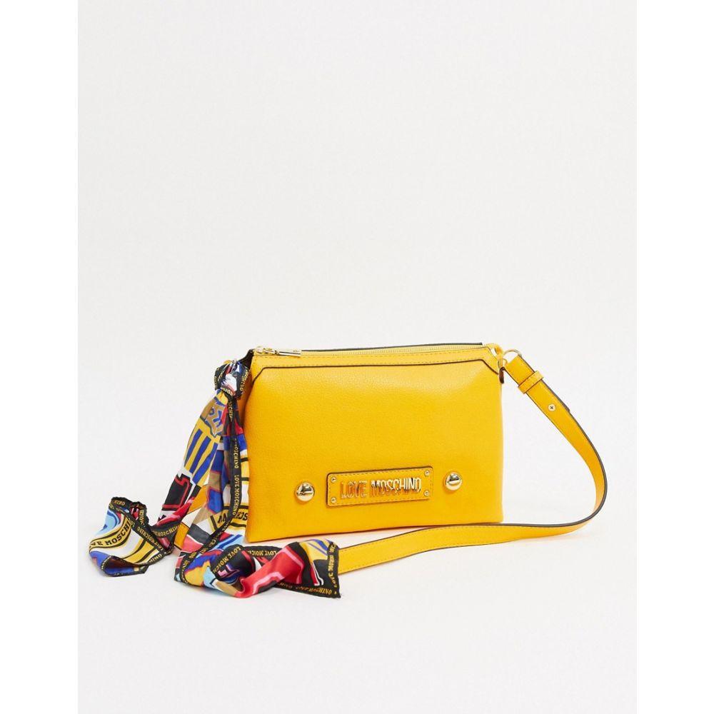 モスキーノ Love Moschino レディース ボディバッグ・ウエストポーチ バッグ【cross body bag with scraf tie in yellow】Yellow