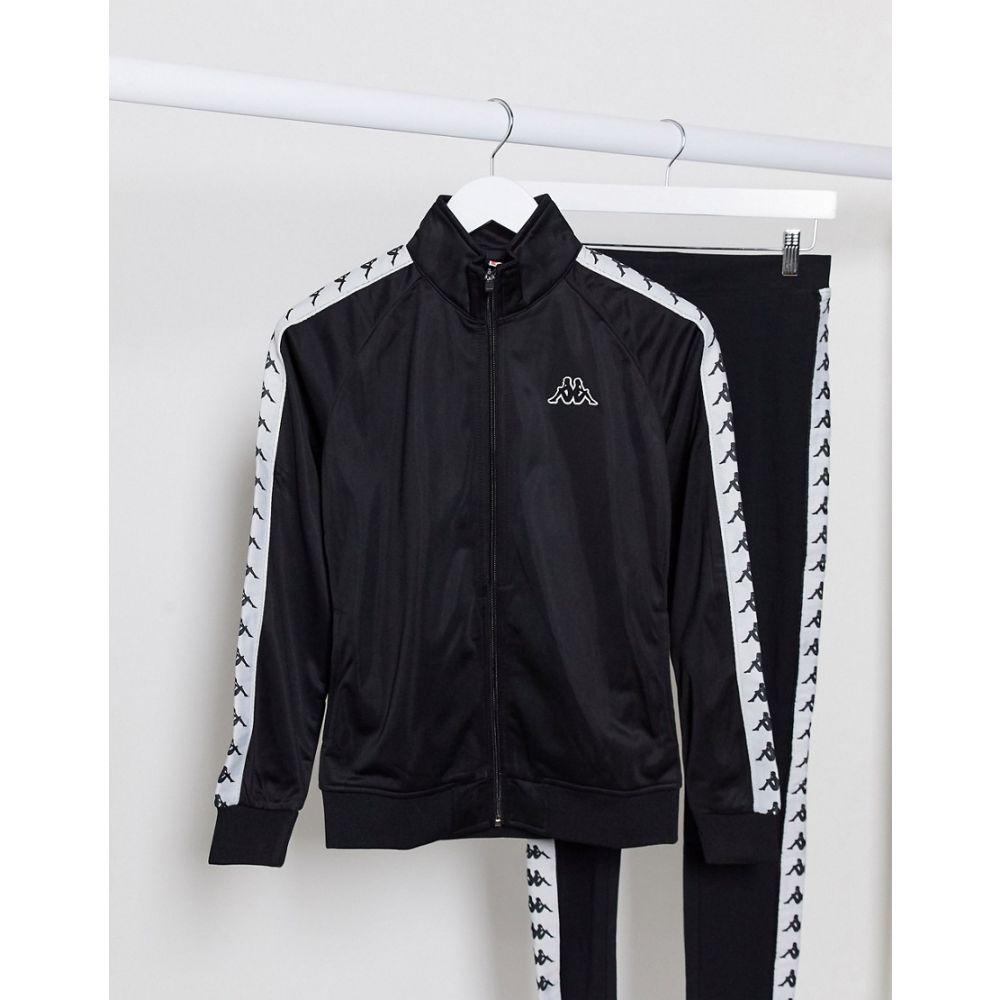 カッパ Kappa レディース ジャージ アウター【banda zip though tracksuit jacket in black】Black