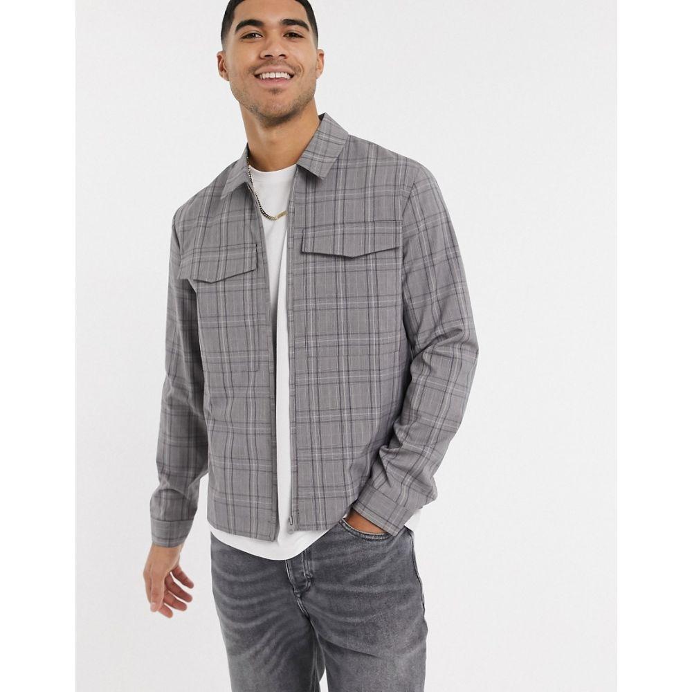 ニュールック New Look メンズ ジャケット シャツジャケット アウター【utility shacket in grey】Grey