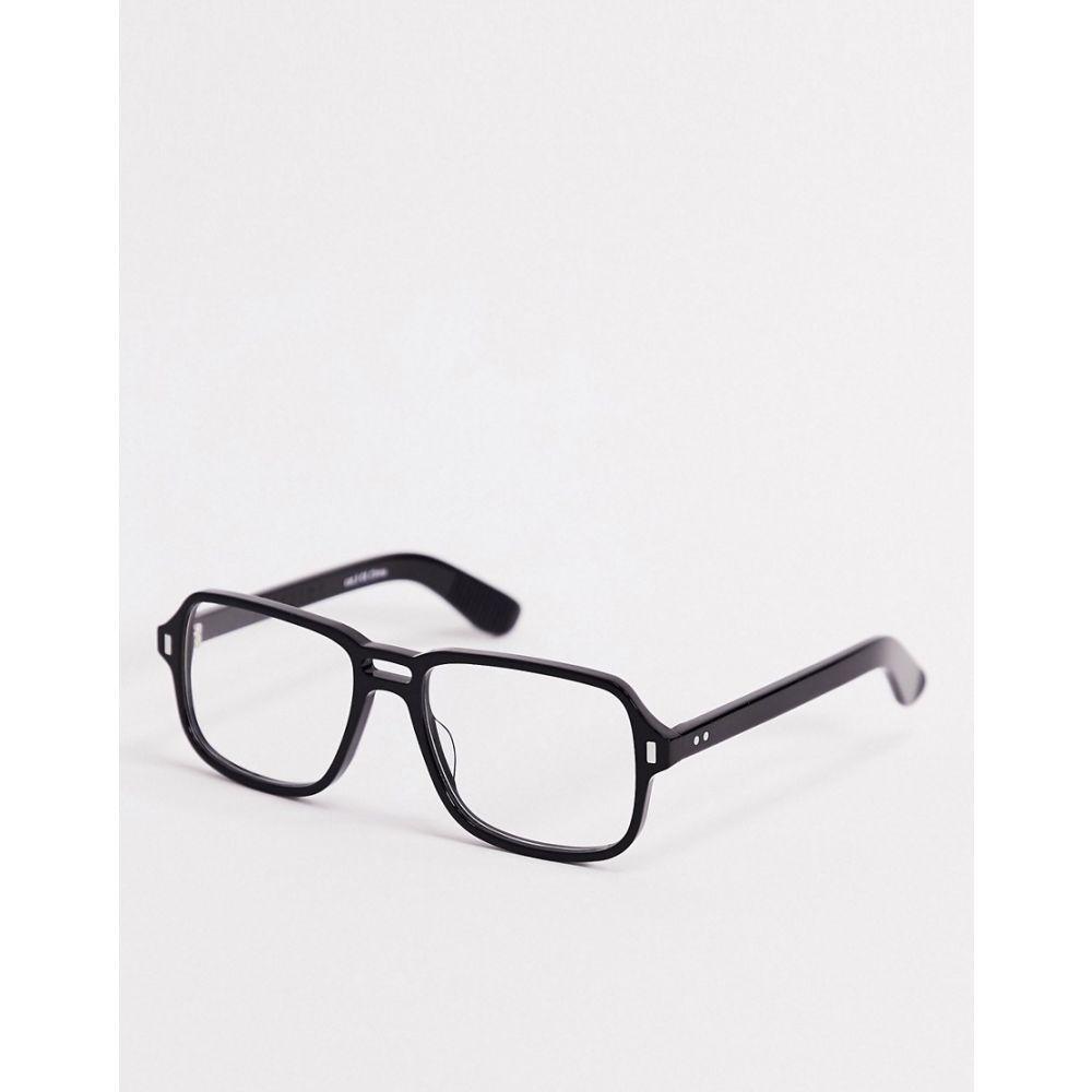 スピットファイア Spitfire メンズ メガネ・サングラス 【Spiftire Cut Fourteen square glasses with black frame and clear lens】Black