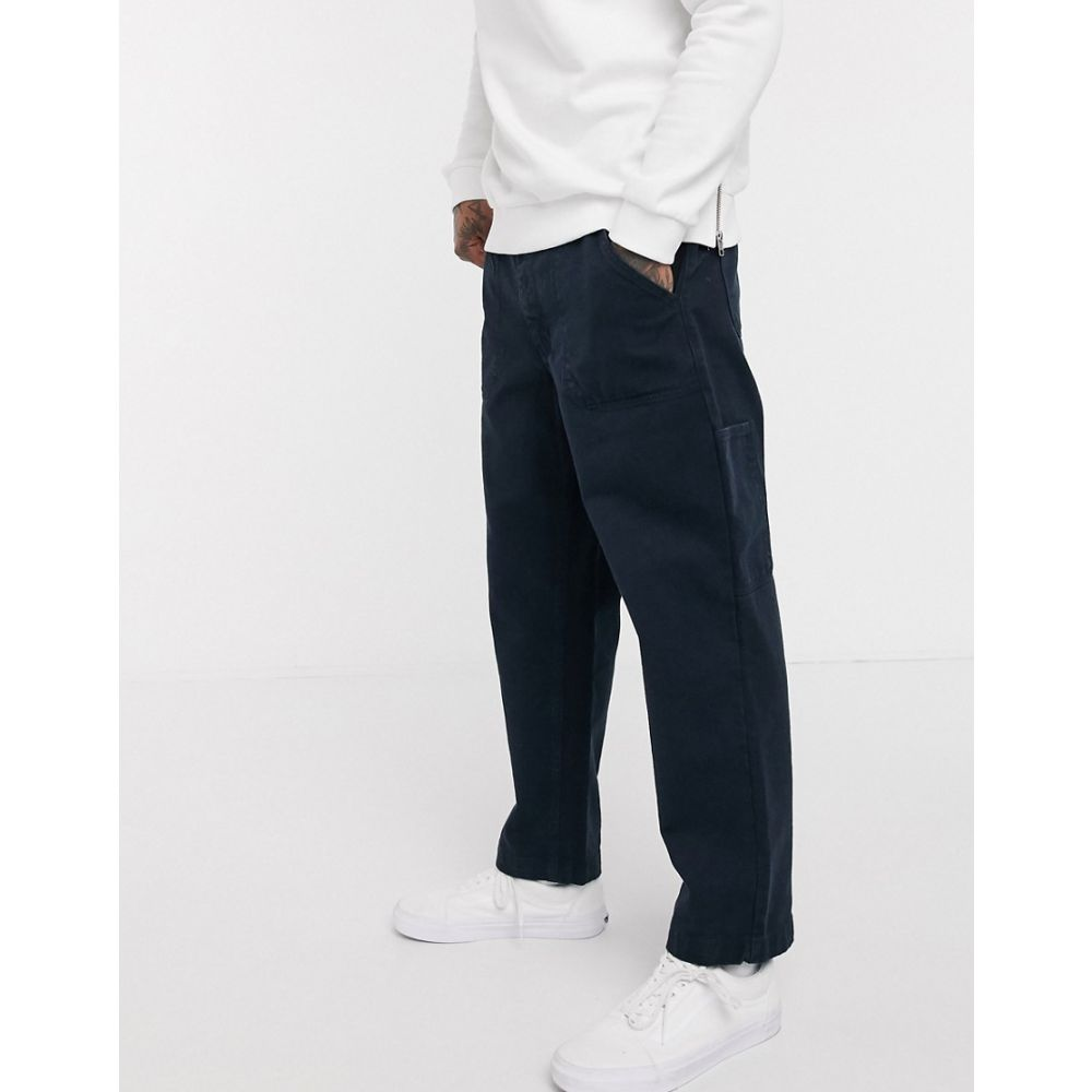 Albam ユーティリティー Albam Utility メンズ ボトムス・パンツ 【twill worker trousers with tapered leg in navy】Navy