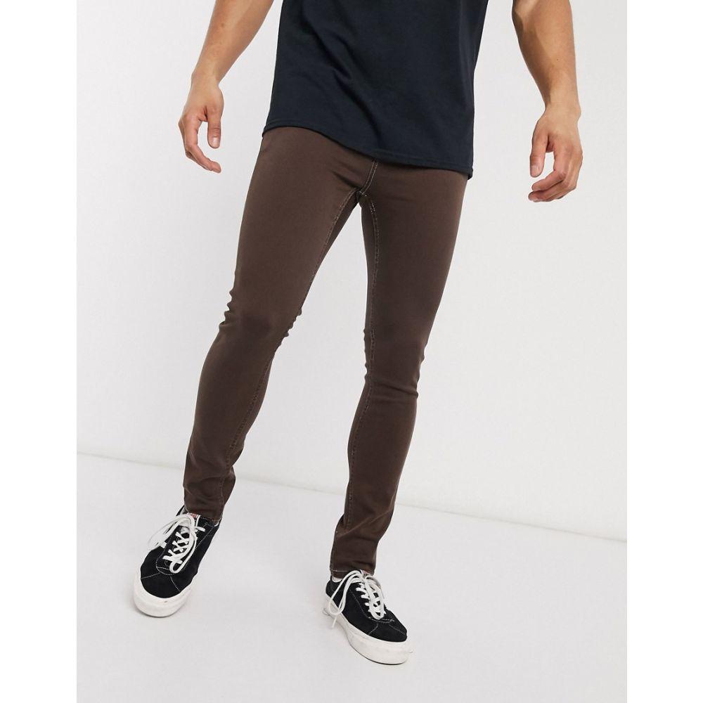 エイソス ASOS DESIGN メンズ ジーンズ・デニム ボトムス・パンツ【super skinny jeans in brown】Brown