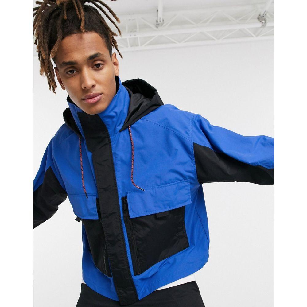エイソス ASOS DESIGN メンズ ジャケット アウター【jacket with multi pocket in blue】Blue
