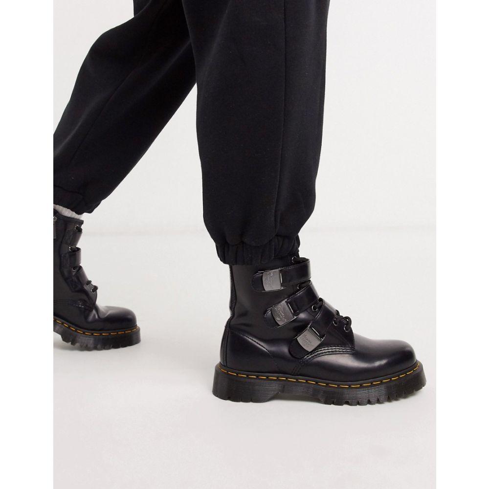 ドクターマーチン Dr Martens メンズ ブーツ シューズ・靴【fenimore 8 eye buckle boots black】Black