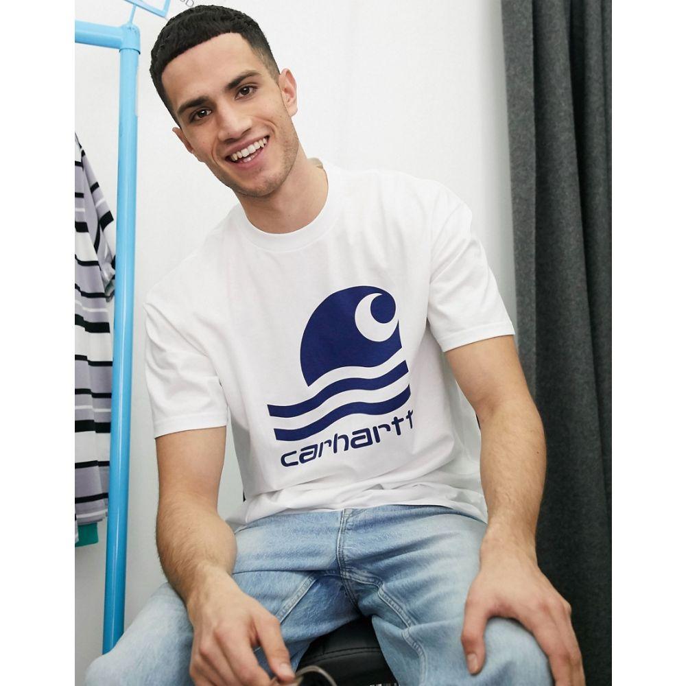 カーハート Carhartt WIP メンズ Tシャツ トップス【swim logo t-shirt in white】White