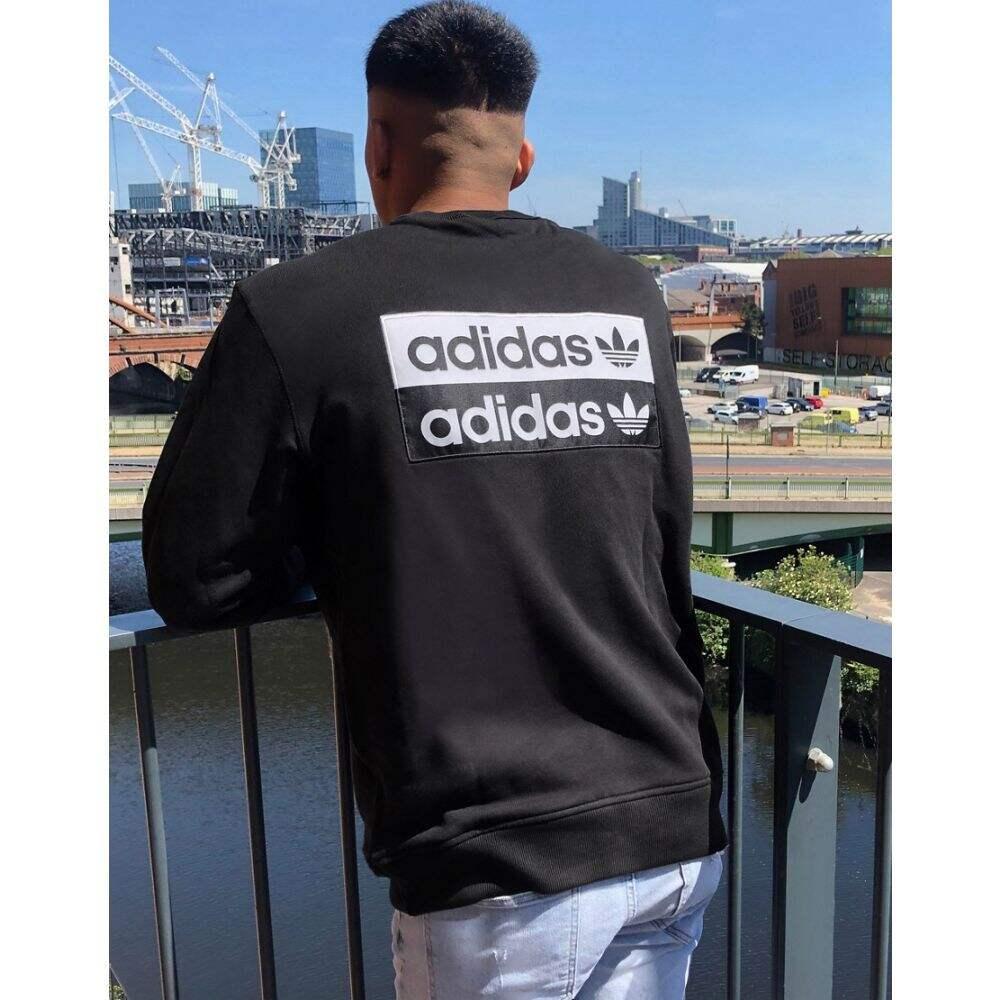 アディダス adidas Originals メンズ スウェット・トレーナー トップス【sweat in black with back print】Black
