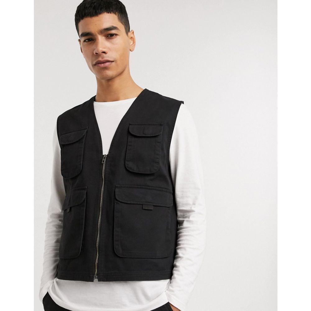 フレンチコネクション French Connection メンズ ベスト・ジレ トップス【utility gilet jacket】Black