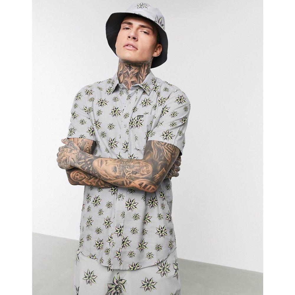 ボルコム Volcom メンズ トップス 【Burch Bloom shirt in grey】Tower grey