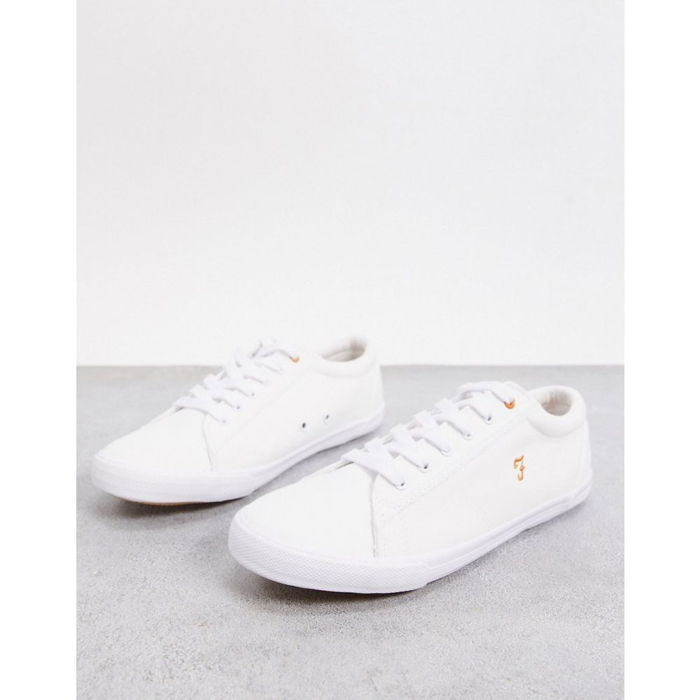 ファーラー Farah メンズ スニーカー レースアップ シューズ・靴【lace up trainers in white】White