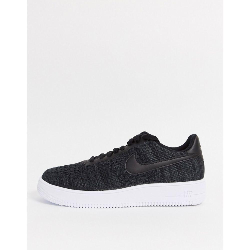 ナイキ Nike メンズ スニーカー エアフォースワン シューズ・靴【Air Force 1 Flyknit 2.0 trainers in black】Black